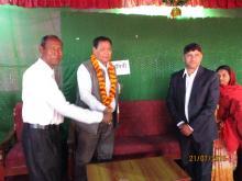 नगर प्रमुख श्री मुक्तिनाथ चौधरी,माननीय श्री तेजुलाल चौधरी र नि. प्रशासकीय प्रमुख दिपक दाहाल ज्यु लगायतका